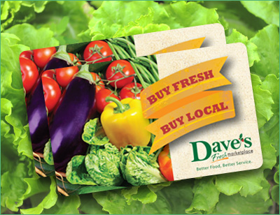 Dave's Marketplace - Gift Cards