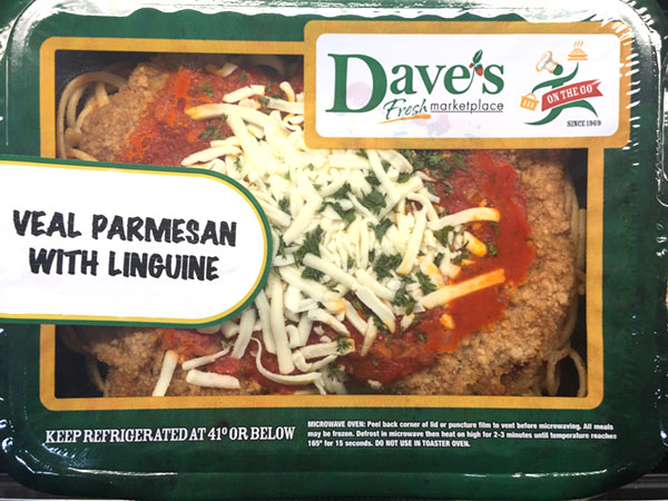 Dave's On-The-Go Veal Parmesan is just like Home Cooking