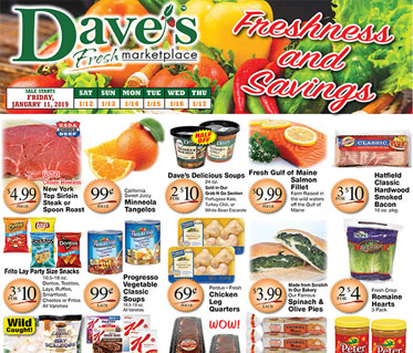 Weekly Specials Flyer for Dave's Marketplace